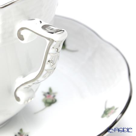 ヘレンド ウィーンのバラ プラチナ 00706-0-00コーヒーカップ&ソーサー 160cc