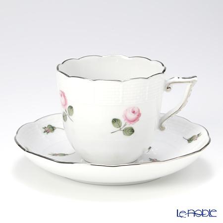 ヘレンド ウィーンのバラ プラチナ 00706-0-00 コーヒーカップ&ソーサー 160cc