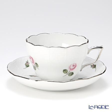 ヘレンド ウィーンのバラ プラチナ 00730-0-00 ティーカップ&ソーサー 兼用 200cc