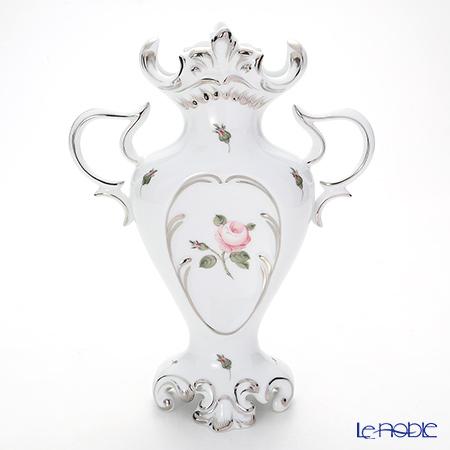 ヘレンド ウィーンのバラ プラチナ 06532-0-00 ベース(両手付) 26cm