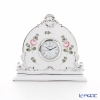 Herend 'Vienna Rose Platinum / Vieille Rose de Herend' VR-PT 08083-0-00 Desk Clock H12.5cm