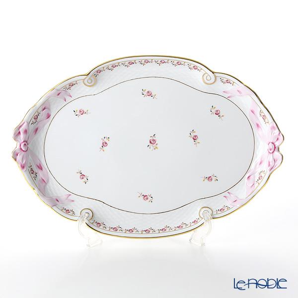 ヘレンド 薔薇の花飾り RGS 00400-0-00 パーティートレイ 38cm