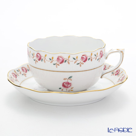 ヘレンド 薔薇の花飾り RGS 00724-0-00ティーカップ&ソーサー 200cc