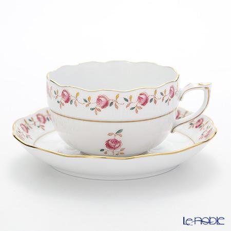 ヘレンド 薔薇の花飾り RGS 00724-0-00 ティーカップ&ソーサー 200cc