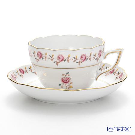 ヘレンド 薔薇の花飾り RGS 00730-0-00ティーカップ&ソーサー(兼用) 200cc