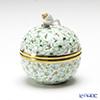 Herend 'Green & Gold Flower' CORV 06219-0-12 Openwork Ball Box (Flower Bud knob)