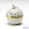 Herend 'Gold Flower' COR 06219-0-12 Openwork Ball Bonx (Flower Bud knob)