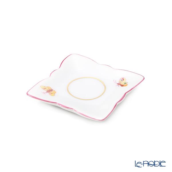 ヘレンド 蝶 PH-5 07674-0-00 ミニトレイ スクエア型 ピンク