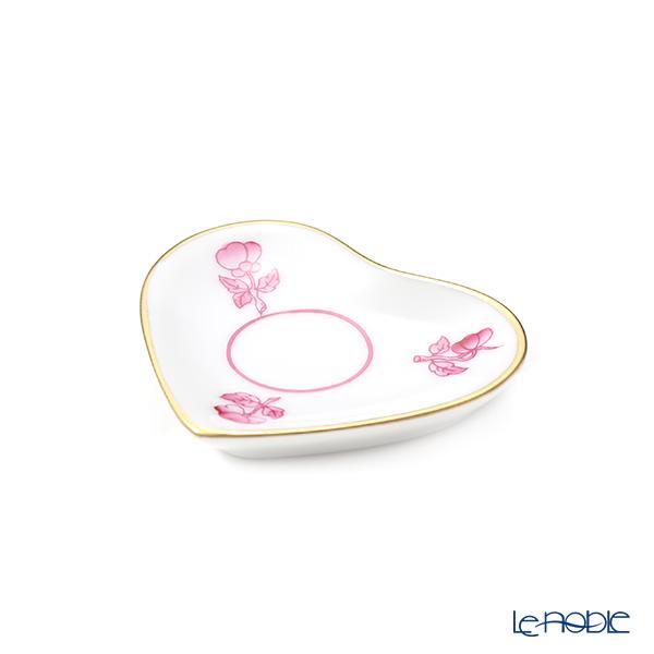 ヘレンド 小花 PH-8 07675-0-00 ミニトレイ ハート型 ピンク