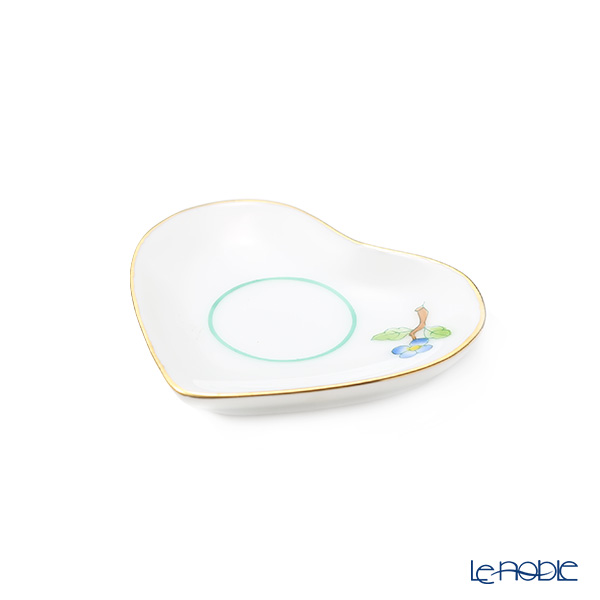 Herend Blue Floret PH-10 07675-0-00 Mini Tray 'Heart' Gold