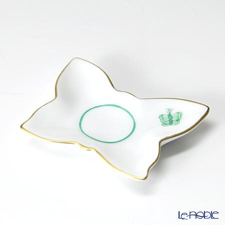 ヘレンド 蝶 PH-13 07676-0-00 ミニトレイ バタフライ型 グリーン