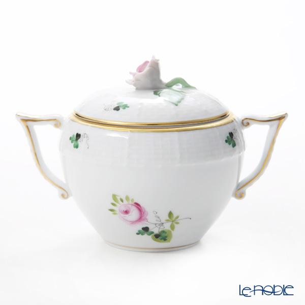ヘレンド ウィーンのバラ シンプル シュガーポット(ローズ) 200cc 00472-0-09