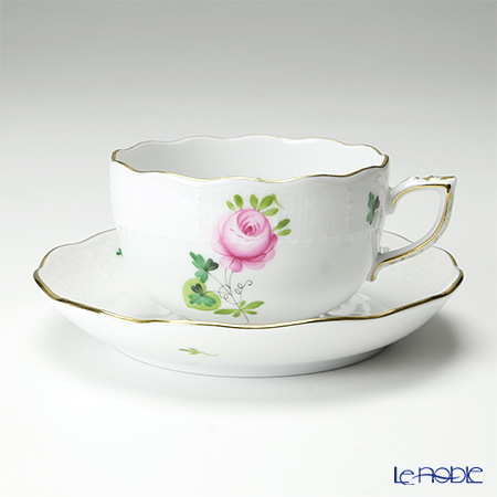 Herend 'Vienna Rose Simple / Vieille Rose de Herend' VRHS 00724-0-00 Tea Cup & Saucer 200ml