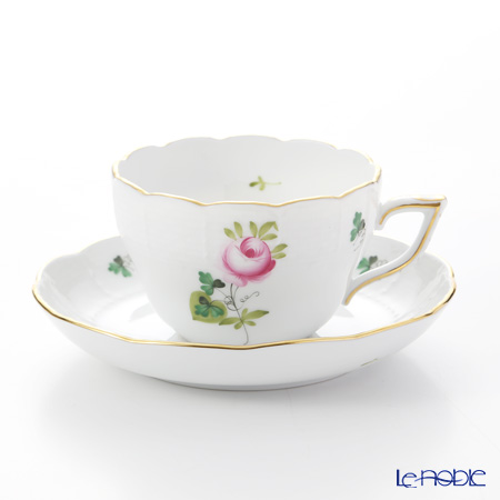Herend 'Vienna Rose Simple / Vieille Rose de Herend' VRHS 00730/706 Tea / Coffee Cup (combined) & Saucer 200ml