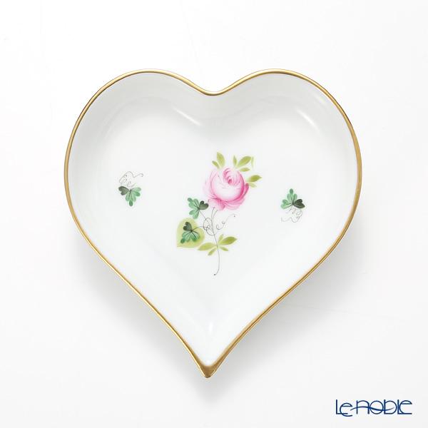 ヘレンド ウィーンのバラ シンプル 07703-0-00 ハートトレイ