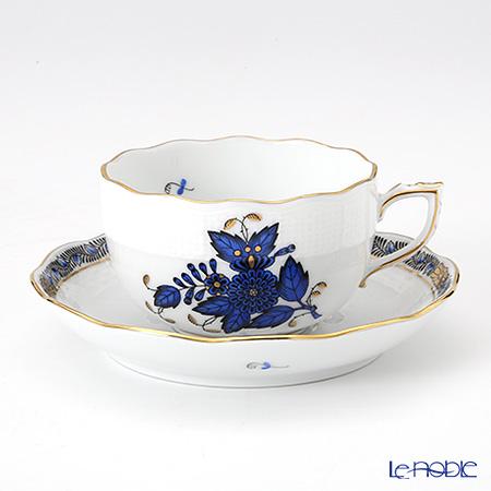 ヘレンド アポニーロイヤルブルー 00724-0-00 ティーカップ&ソーサー 200cc