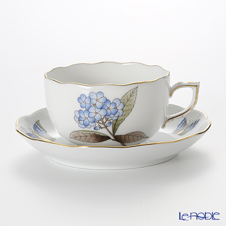 ヘレンド ヴィクトリア・グランデ VICTMC9 20724-0-00 ティーカップ&ソーサー 200cc ブルー(アジサイ)
