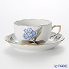 ヘレンド ヴィクトリア・グランデ VICTMC9 20724-0-00ティーカップ&ソーサー 200cc ブルー(アジサイ)