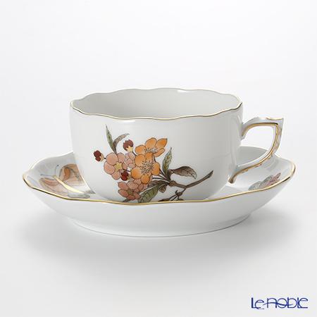 ヘレンド ヴィクトリア・グランデ VICTMC11 20724-0-00 ティーカップ&ソーサー 200cc オレンジ(アップルフラワー-リンゴの花-)