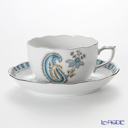 ヘレンド ペイズリー ターコイズ プラチナ BUTTQ-PT 00724-0-00 ティーカップ&ソーサー 200cc