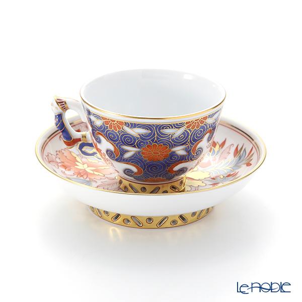 Herend 'Rock Peony' ROC 03371-0-21 Small Cup & Saucer (Mandarin handle / openwork) 100ml