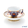 Herend Rock Peony ROC 03371-0-21 Mocha Cup & Saucer (Mandarin handle / openwork) 100ml