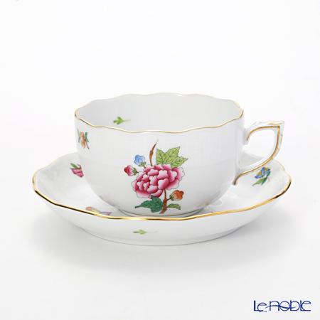 ヘレンド ヴィクトリア・花と蝶 LVF-1 0724-0-00 ティーカップ&ソーサー