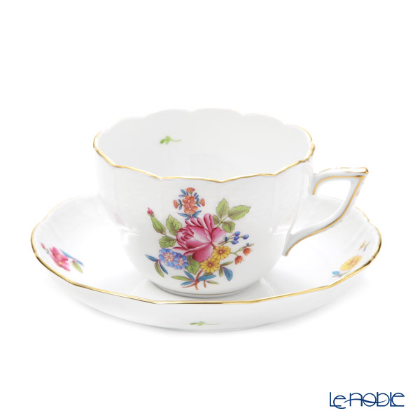 ヘレンド ブーケコルネリア HBC ティーカップ&ソーサー 兼用 200cc 00730-0-00
