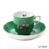 Herend 'Queen Victoria Green / Victoria avec Bord en Or' VE-FV 20707-0-00 Mocha Coffee Cup & Saucer 150ml