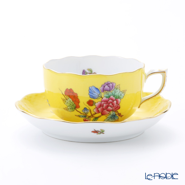 ヘレンド 黄のヴィクトリア VE-FJ 00724-0-00 ティーカップ&ソーサー 200cc