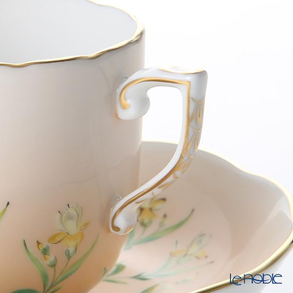 Herend Iris Flower Orange IRIS-H 20707-0-00 Mocha Cup & Saucer 150ml