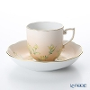 Herend 'Iris Flower' Orange IRIS-H 20707-0-00 Mocha Coffee Cup & Saucer 150ml