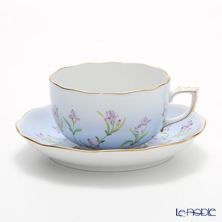 ヘレンド アイリス ブルー IRIS-B 20724-0-00 ティーカップ&ソーサー 200cc