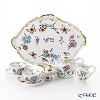 Herend 'Queen Victoria Historic' VICTORIA Tea Cup & Saucer, Tea Pot, Sugar Pot, Creamer, Tea Tray (set of 6t for 2 persons)