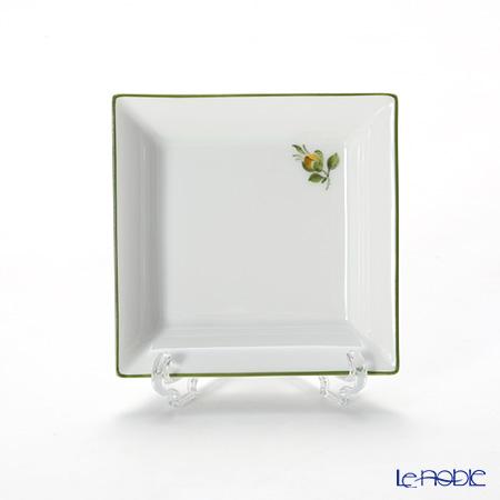 アウガルテン(AUGARTEN) プティットフルール(7096D) グリーン スクエアディッシュ 8×8cm(867)
