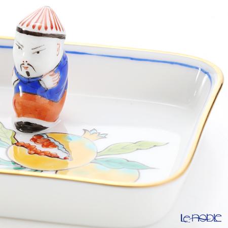 Herend 'Kutani' KUT 07733-0-21 Rectangular Tray with Mandarin 8x6.5cm