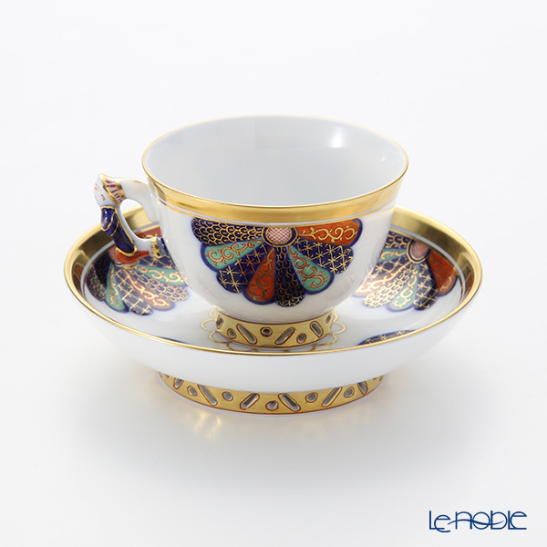 Herend 'Chrysanthemum Imari' CIM 03371-0-21 Small Cup & Saucer (Mandarin handle / openwork) 100ml