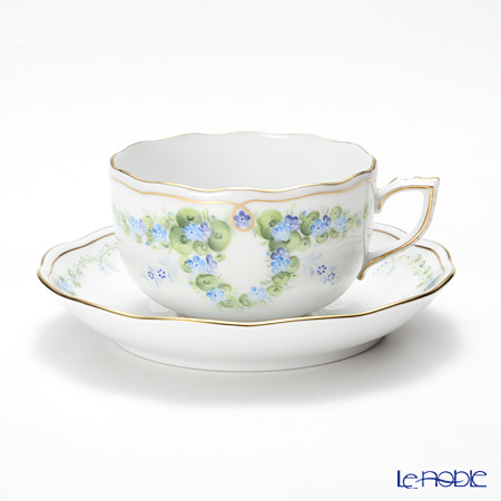 Herend blue selenite STB 20724-0-00 Tea Cup & Saucer 200 cc