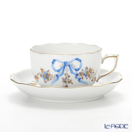 ヘレンド エデン ブルー EDENBM 20724-0-00 ティーカップ&ソーサー 200cc