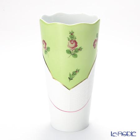 Herend 'Small Roses Pink / Petites Roses' Green x White MX3 00905-0-00 Tumbler / Vase 710ml H17.5cm