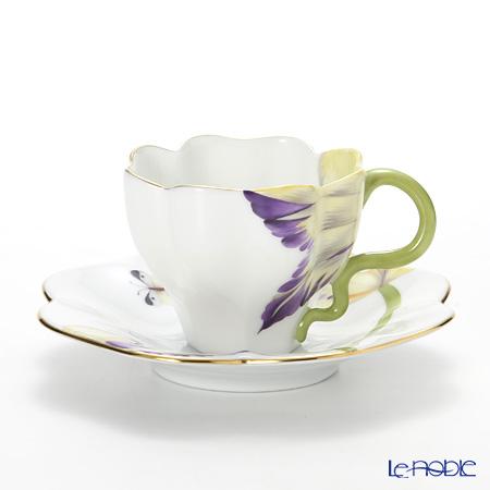 ヘレンド チューリップ TULIP-1 04746-0-00 ティーカップ&ソーサー パープル