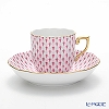 Herend Pink Fish scale / Vieux Herend VHP 20707-0-00 Mocha Cup & Saucer 150ml