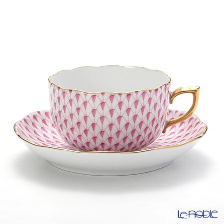 ヘレンド エカイユ ピンク VHP 20724-0-00 ティーカップ&ソーサー 200cc