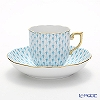 Herend Turquoise Fish scale / Vieux Herend VHTQ 20707-0-00 Mocha Cup & Saucer 150ml