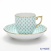 Herend Green Fish scale / Vieux Herend VHV 20707-0-00 Mocha Cup & Saucer 150ml