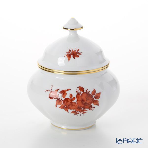 Augarten 'Maria Theresia' Orange Rose Sugar Pot 250ml [Mozart shape]