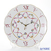 Herend 'Flower Garland with Ribbon' Pink FLR-X2 20527047 Wall Clock 28cm