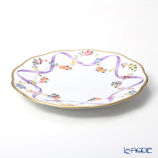 Herend 'Flower Garland with Ribbon' Lilac FLR-X1 20517-0-00 Plate 19cm