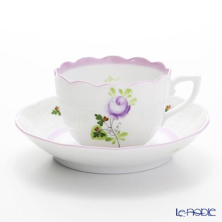 ヘレンド ウィーンのバラ ライラック 00711-0-00 モカカップ&ソーサー 100cc
