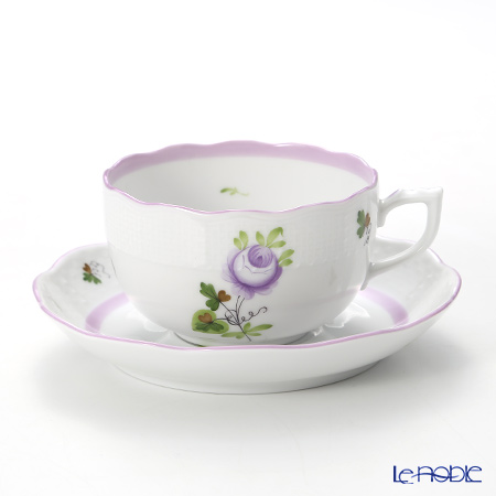 Herend 'Vienna Rose Lilac / Vieille Rose de Herend' VRHL 00724-0-00 Tea Cup & Saucer 200ml
